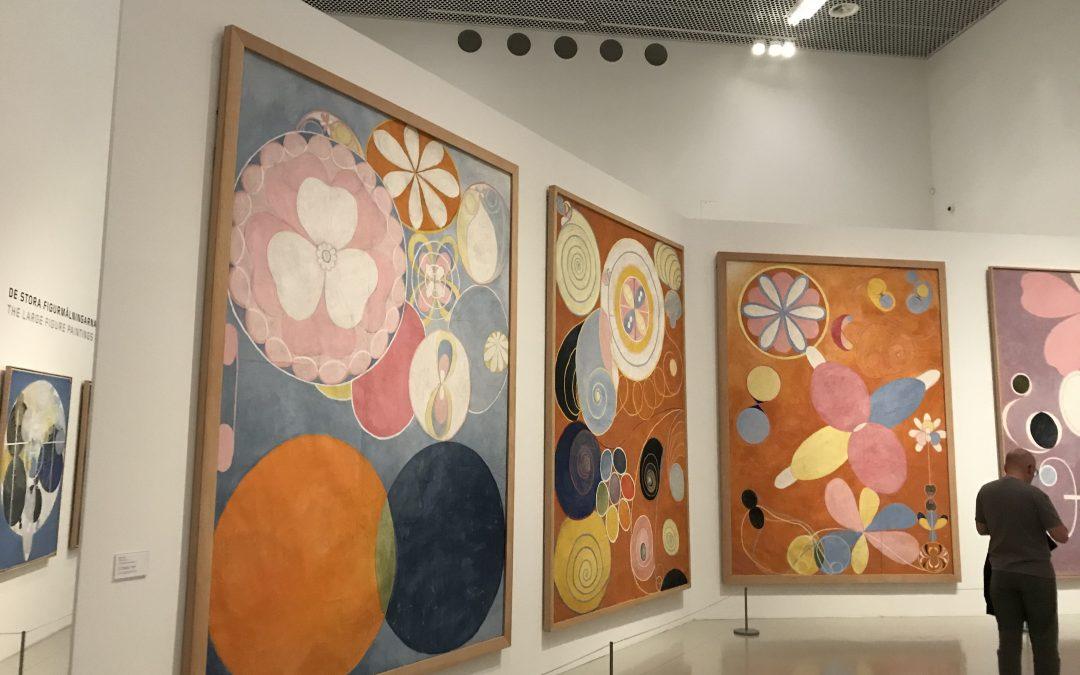 Visning av utställningen Hilma af Klint