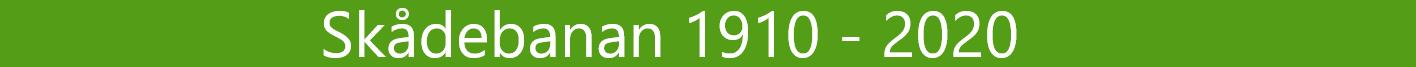 Skådebanan 1910 - 2020